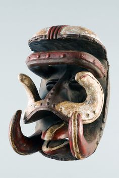 Africa   Mask from the Bete people of Ivory Coast   Wood and pigment