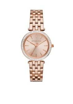 Michael Kors Women's Rose Gold-Tone Mini Darci Watch - Rose Gold - One Size
