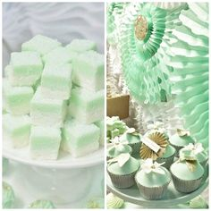 TOP DESSERT TABLE OF THE WEEK Mint And Gold Dessert Table