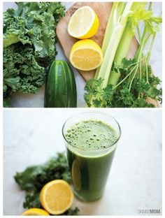 Kale-tastic Green Juice: This juice recipe is less than 100 calories per serving and is PACKED with vitamins and nutrients!