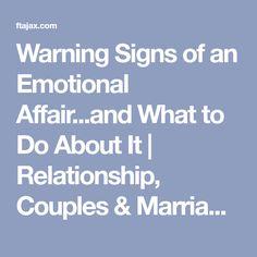 Emotional affair signs test