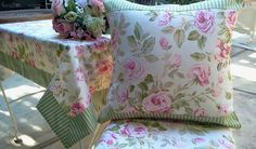 """""""Looking Rosie"""" is one of my newest collections and will be available to order soon. Cottage Style Decor, Pink Apple, Pansies, Pink And Green, How To Look Better, Shabby Chic, Collections, Throw Pillows, Decorating"""