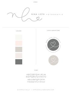 Handwritten logo design | Nina Lieth Fotografie | Simple Sally