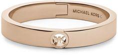 Michael Kors Fulton Skinny Bangle Rose Golden in Pink (ROSE GOLD)
