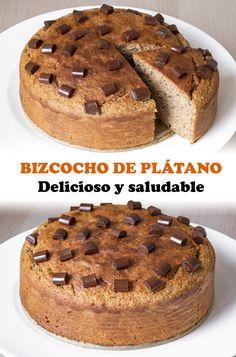 Healthy Dessert Options, Healthy Snacks, Healthy Recipes, Cheesecake Cake, Pastry Cake, Cake Shop, Sin Gluten, Chocolate, Banana Bread