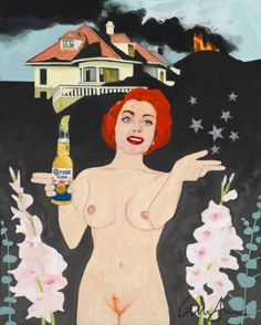 """Anna Jensen's """"Finally I'm A Functional Alcoholic"""" is a unique gift for the art lover who likes to laugh this holiday season. #GiftGuide"""