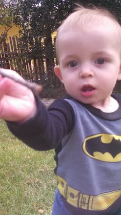 Want a stick? Cute little Batman & other photos from our trip.