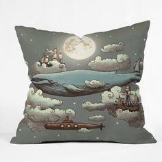 DENY Designs Terry Fan Ocean Meets Sky Indoor/outdoor Throw Pillow