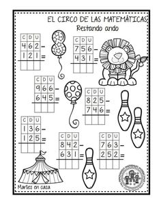 EXCELENTE CUADERNO PARA TRABAJAR UNA SEMANA EL CIRCO DE LAS MATEMÁTICAS - Imagenes Educativas Math Practice Worksheets, Worksheets For Kids, Creative Teaching, Teaching Math, Malay Language, Math Sheets, Math 2, Simple Math, Math Practices
