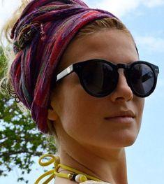 Mujer: Estilo y Belleza: Pañuelos y Turbantes para la Playa 2016