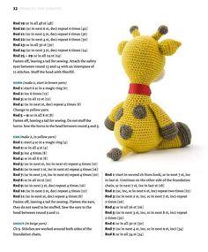 Zoomigurumi 4 – Part Crochet Gratis, Crochet Bear, Crochet Animals, Crochet Giraffe Pattern, Crochet Patterns Amigurumi, Crochet Table Runner Pattern, Giraffe Toy, Crochet Videos, Stuffed Toys Patterns