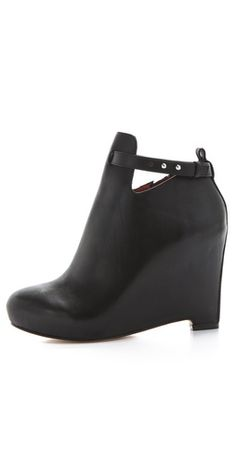 buy online cheap price authentic Elizabeth and James Leather Semi Pointed-Toe Booties I6PbfYD85y