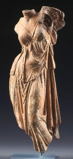 Statuette of Goddess Nike - found Tarentine in Greek, circa 3rd c. BC, made in Terracotta - at the Princeton Museum