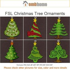 FSL Christmas Tree Ornaments Free Standing Lace Machine by embhome