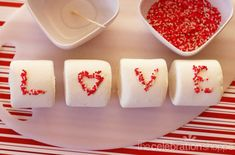 Easy Valentine marshmallows