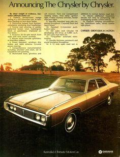 1972 CH Chrysler By Chrysler Aussie Original Magazine Advertisement Australian Vintage, Australian Cars, Car Photos, Car Pictures, Car Pics, Chrysler Valiant, Aussie Muscle Cars, Chrysler New Yorker, Chrysler Cars