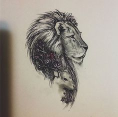 lamb tattoo google search more tattoo lion lamb tattoos tattoo lamb ...