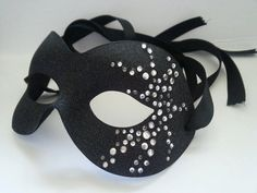Mask ..Black masquerade mask, perfect for carnival, masked ball, fancy dress, ladies eye wear, labyrinth festival, gothic wedding,