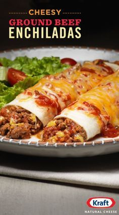 Move over tacos, it's enchilada time. Our recipe for enchiladas is elevated with KRAFT Mexican Four Cheese blend. Top off these beefy enchiladas with fresh cilantro to make your Mexican meal muy delcioso.