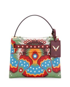 Valentino Sale My Rockstud Enchanted Wonderland Green Red Blue Yellow Satchel. Save 27% on the Valentino Sale My Rockstud Enchanted Wonderland Green Red Blue Yellow Satchel! This satchel is a top 10 member favorite on Tradesy. See how much you can save
