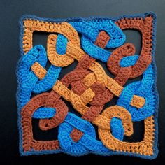 Celtic Knot Trivet  This is a little diversion from my normal amigurumi projects.  I have been inspired by flat appliques and square motifs...