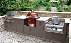 Better look at the Egg by Kamado in an outdoor kitchen set up