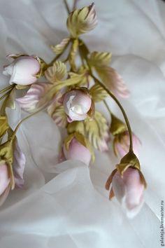 Цветы из шелка Бутоны роз - бледно-розовый,бутоны роз,букет,букет цветов