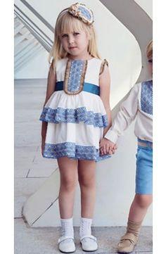 Vestido de niña Dolce Petit Nueva Coleción color blanco