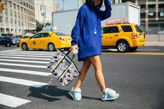 The Best and Fiercest Street Style from New York Fashion Week Spring 2 Photos | W Magazine