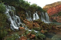 Flowing in Harmony - Arizona, USA by Thomas J Dawson, via Flickr  Navajo Falls---Available via strenuous hike (8-10 miles) on Havasupai land