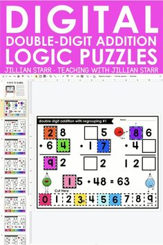 Distance Learning Double Digit Addition with Regrouping Logic Puzzles Third Grade Science, Second Grade Math, Teacher Resources, Classroom Resources, Physics Classroom, Teaching Ideas, Word Wall Labels, Math Journal Prompts, Instructional Planning