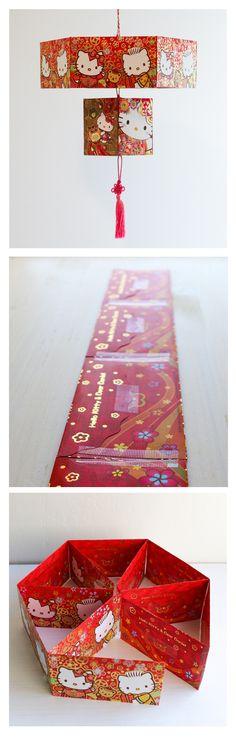chinese-red-envelope-lantern : utilisable en calendrier de l'avent