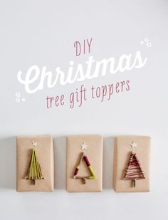 Use thin sticks and embroidery thread to create these simplistic and charming tree toppers—don't forget the mini stars on top.
