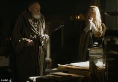 Sacked: Grand Maester Pycelle is told to leave The Mountain after he claimed he could not be cured