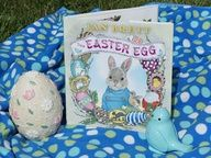 Super fun outdoor games, crafts, snacks, and story time inspired by Jan Brett's Book The Easter Egg @ Mommy and Me Book Club.