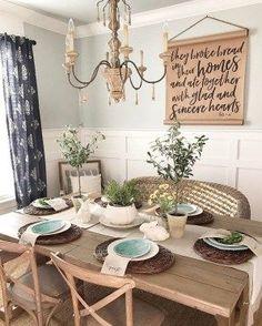 Best Farmhouse Dining Room Decor Ideas 02