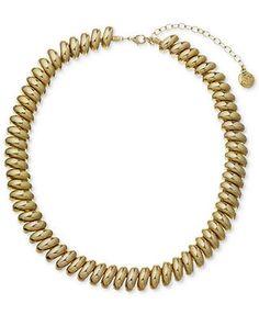Jones New York Necklace, Gold-Tone High-Shine Collar Necklace