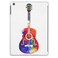 Rainbow Watercolor Guitar | Your Custom iPad Case for iPad Air, iPad 2/3/4, iPad mini