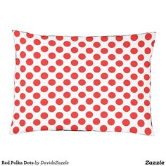 Red Polka Dots Dog Bed This design is available  on many products! Click the link and hit the 'Available On' button near the product description to see them all! Thanks for looking!  @zazzle #polka #dots #decor #home #design #dog #bed #pet #animal #friend #family #accessory #accessories #buy #sale #shop #shopping #owner #fun #sweet #fido #woof #awesome #cool #chic #modern #style #bed #collar #leash #bowl #tag