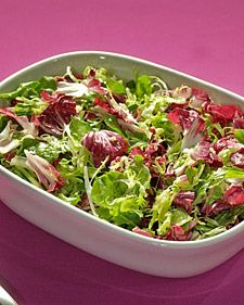 Salad greens should be crisp, with firm outer leaves. They should also smell sweet, not bitter. When possible, purchase unpackaged lettuce.