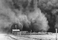 The Dust Bowl 1930:  This picture is a primary credible source because i found it in a historical website. This picture shows the dust bowl, in this condition farming was impossible so, farmers had to leave their farms to look for a job.