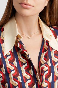 Gucci | 18-karat gold diamond necklace | NET-A-PORTER.COM