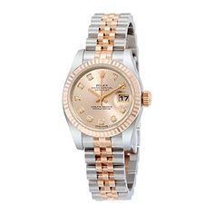 #rolexladieswatches Rolex Lady Datejust Pink Dial Automatic Stainless Steel 18kt Rose Gold Ladies Watch 179171PDJ Check https://www.carrywatches.com