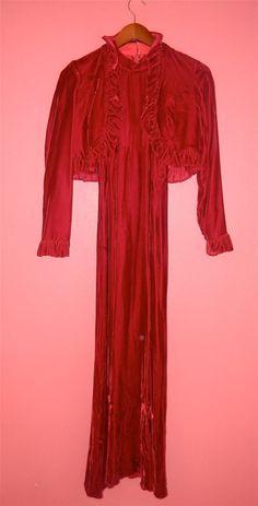 Vintage Dress Jacket 70s Velvet Cranberry by PinkCheetahVintage, $32.00