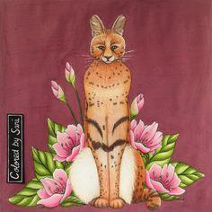 """97 tykkäystä, 3 kommenttia - Sari Hankaniemi (@sari_kani_) Instagramissa: """"#serval from my own #adultcoloringbook #kaunisluontovärityskirja #kaunisluontovarityskirja…"""""""