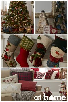 For a homespun holiday, use craft-colored pieces to create a warm palette. Create the perfect backdrop for the tree and gifts using ornaments and accents with a handcrafted feel, made of woven, burlap or distressed materials.