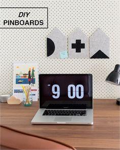 DIY mini house pinboards by www.crafthunter.com.au