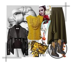 """""""selly"""" by selly111528 ❤ liked on Polyvore featuring Alexander McQueen, Balmain, HIDE, Norell and Prada"""