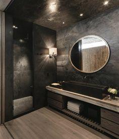 baños oscuros modernos
