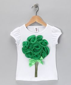 There's nothing quite like the sweet roses blooming right off this cuddly tee. With cap sleeves, a little stretch and a bitty bow, this piece is the perfect bouquet for any flower child. Toddler Sewing Patterns, Making Fabric Flowers, Kids Frocks, Diva Fashion, Girls Wear, Refashion, Diy Clothes, Dress Patterns, Baby Dress